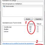 Dossiers partagés sous Windows