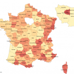 Carte de France avec départements