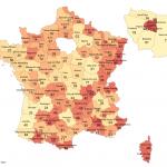 Numéros et départements de France métropolitaine