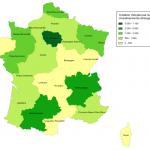 Créations d'emplois par région suite aux investissement étrangers
