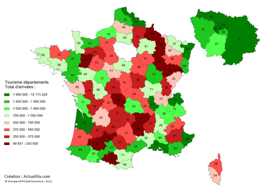 Carte Touristique De La France Carte