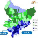 Revenu net moyen dans les Alpes-Maritimes en 2009