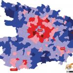 Revenu net moyen des foyers fiscaux des communes du Maine-et-Loire