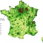 Revenu net moyen des foyers fiscaux en France en 2009
