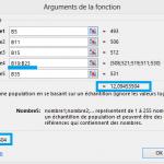 Calcul de l'Ecart-Type sur Excel