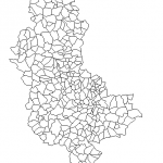 Shapefiles des départements de France