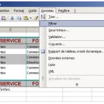 Utiliser les filtres sous Excel