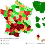 Salaire en France par département (INSEE 2010)