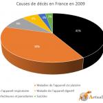 Principales causes de décès en France en 2009