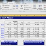 Bourse dans Excel 2010 : Importer et actualiser