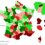 Carte de France des interruptions volontaires de grossesse