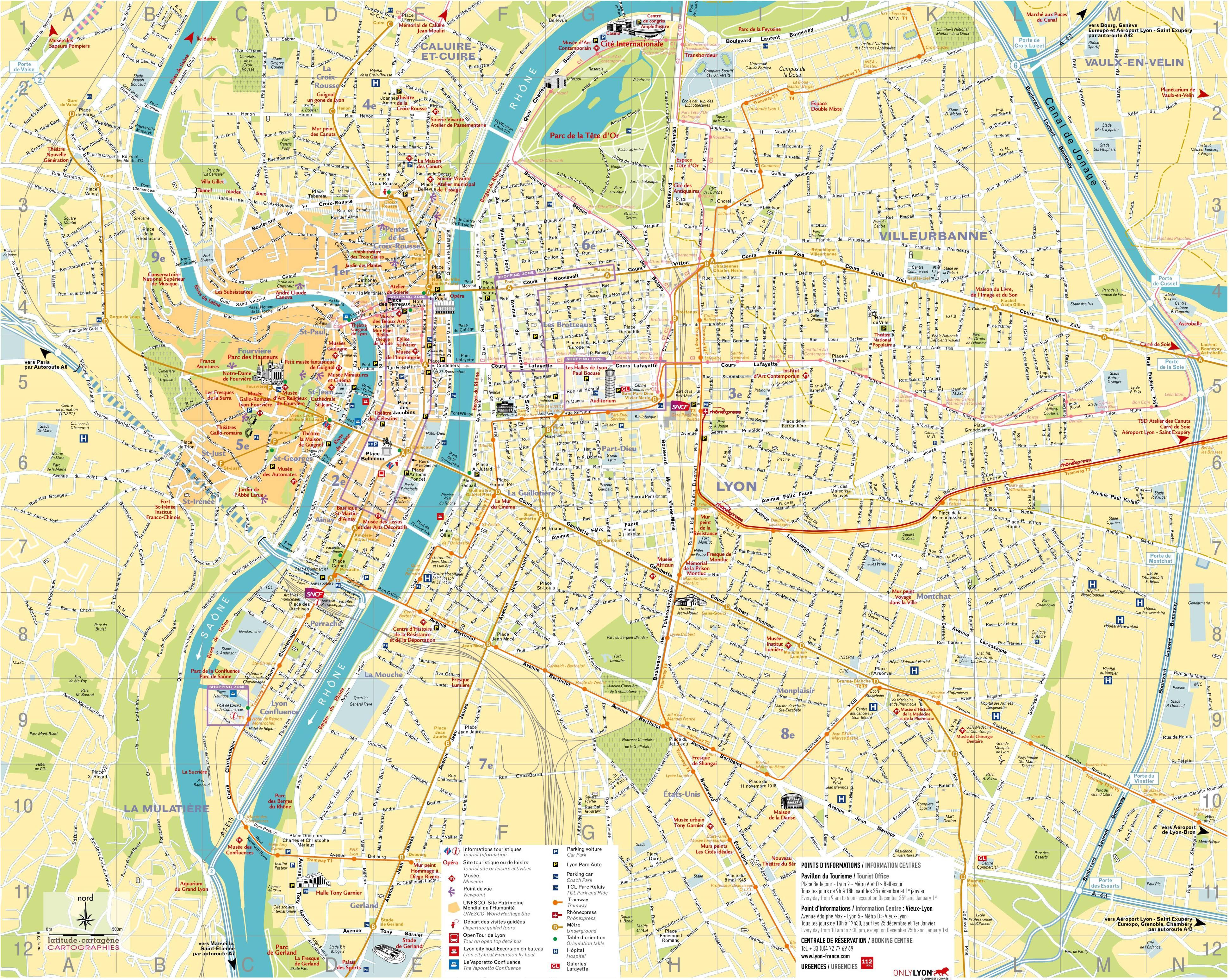 Lyon Plan De La Ville