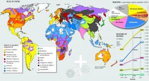 Carte des religions dans le monde