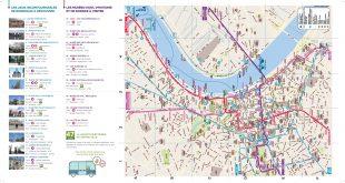 Carte tourisitique de Bordeaux