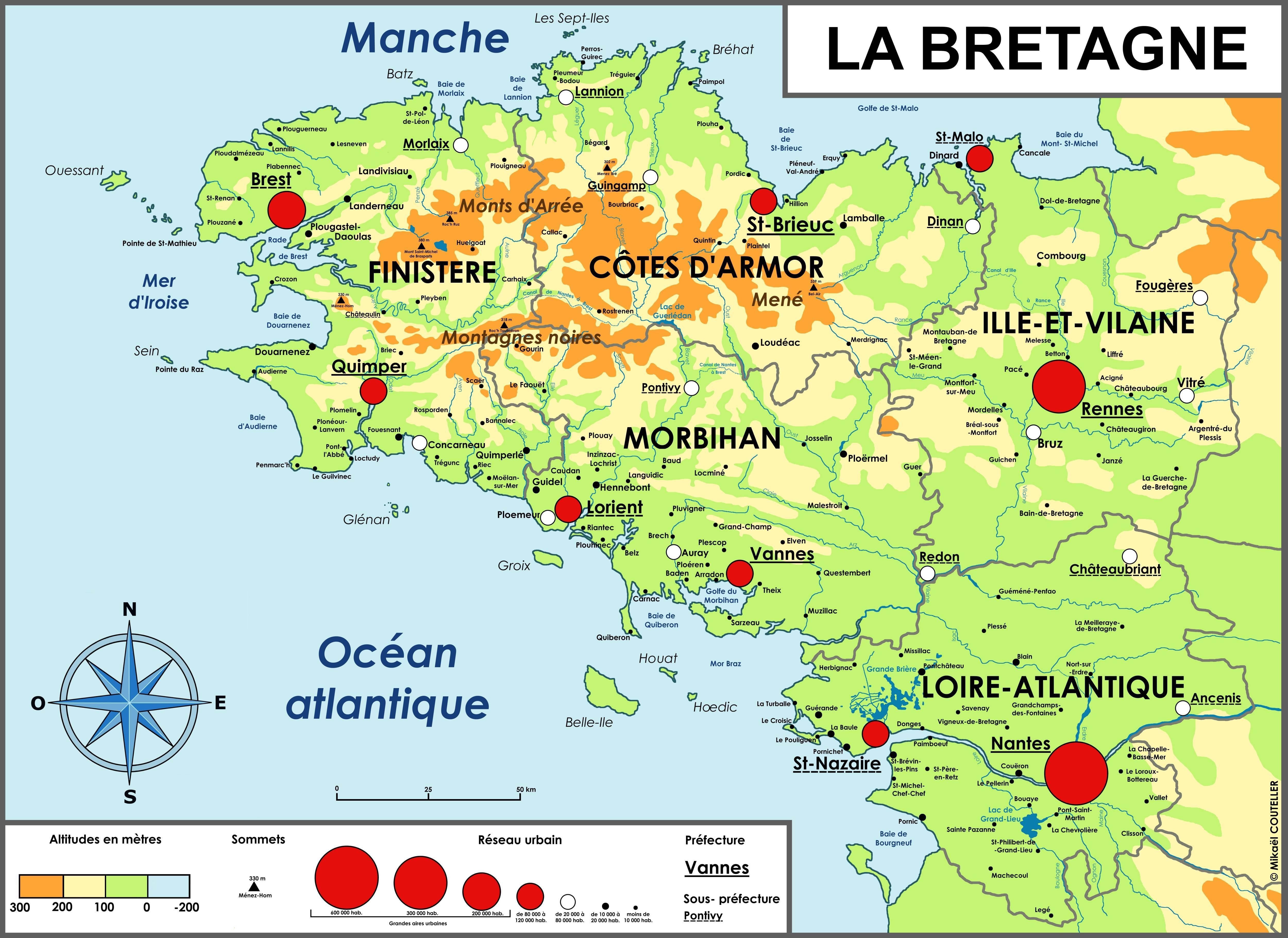 carte de bretagne - Photo
