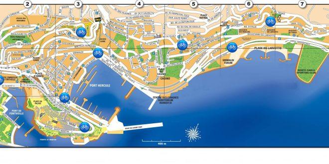 Carte de Monaco - Plan de Monaco - Cartes et plans (routière, sites touristiques...)