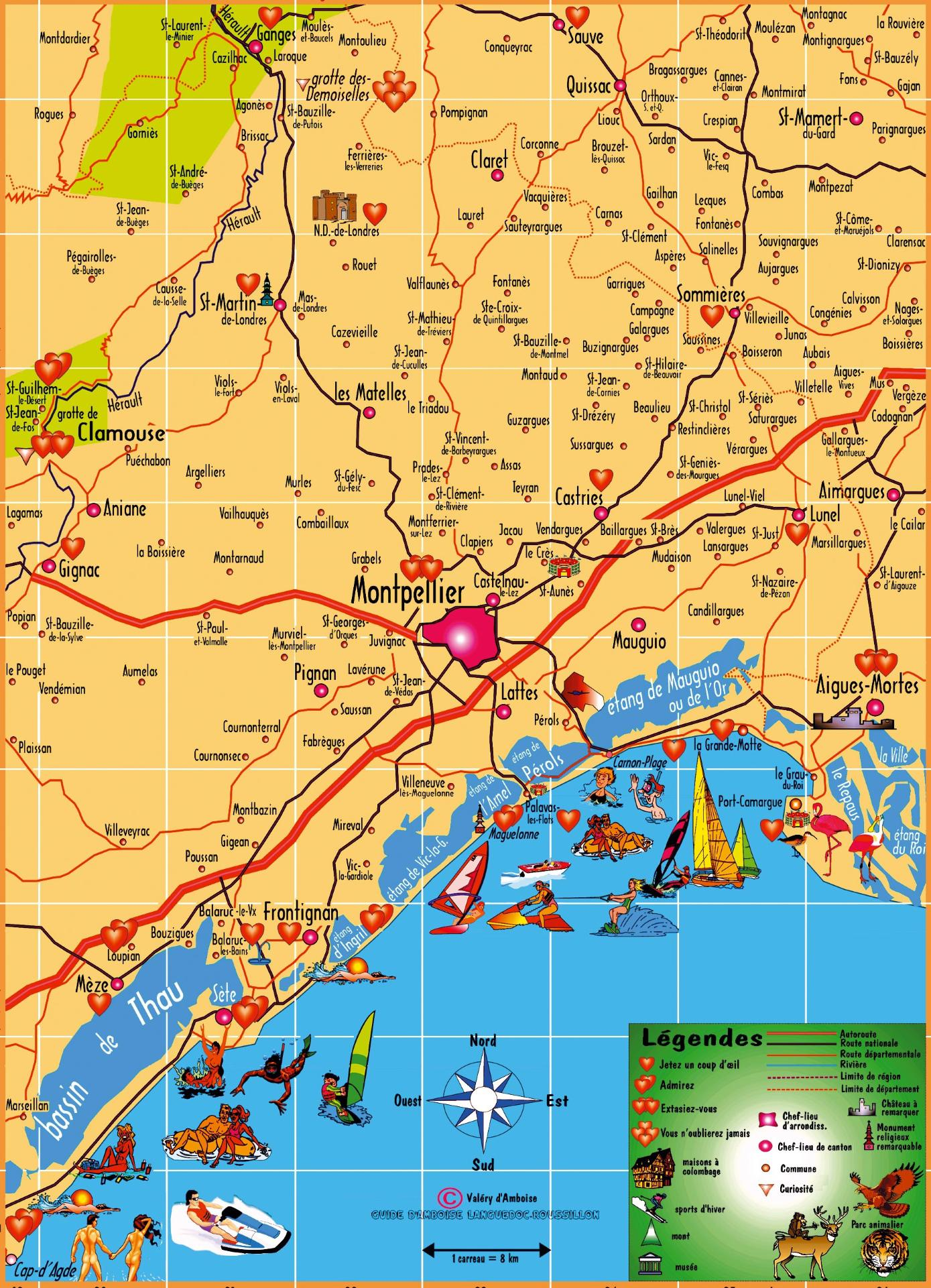 Carte découverte de Montpellier