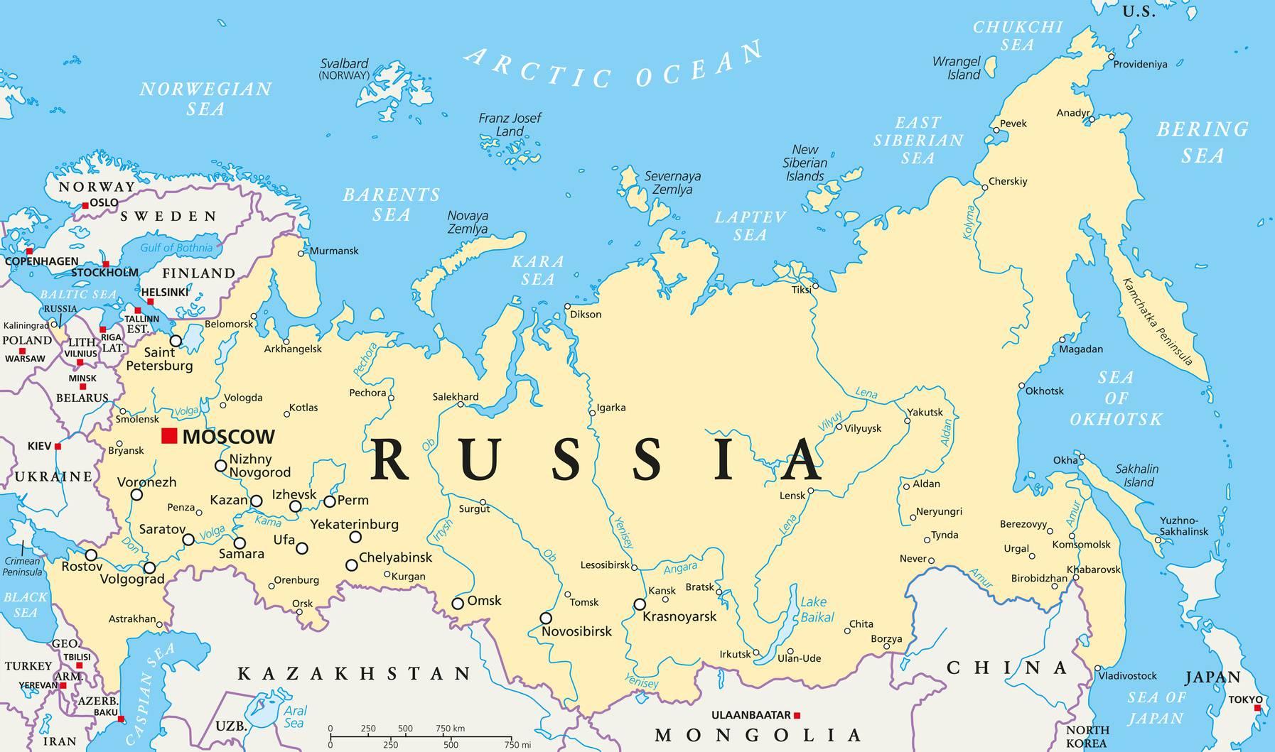 Cartes Villes Russie
