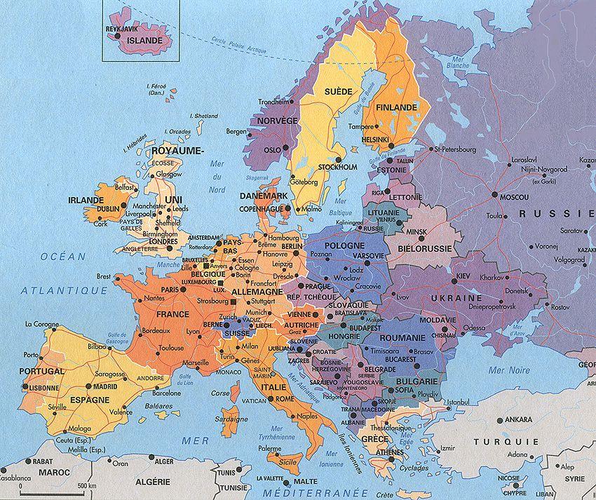 Carte Des Villes Euro