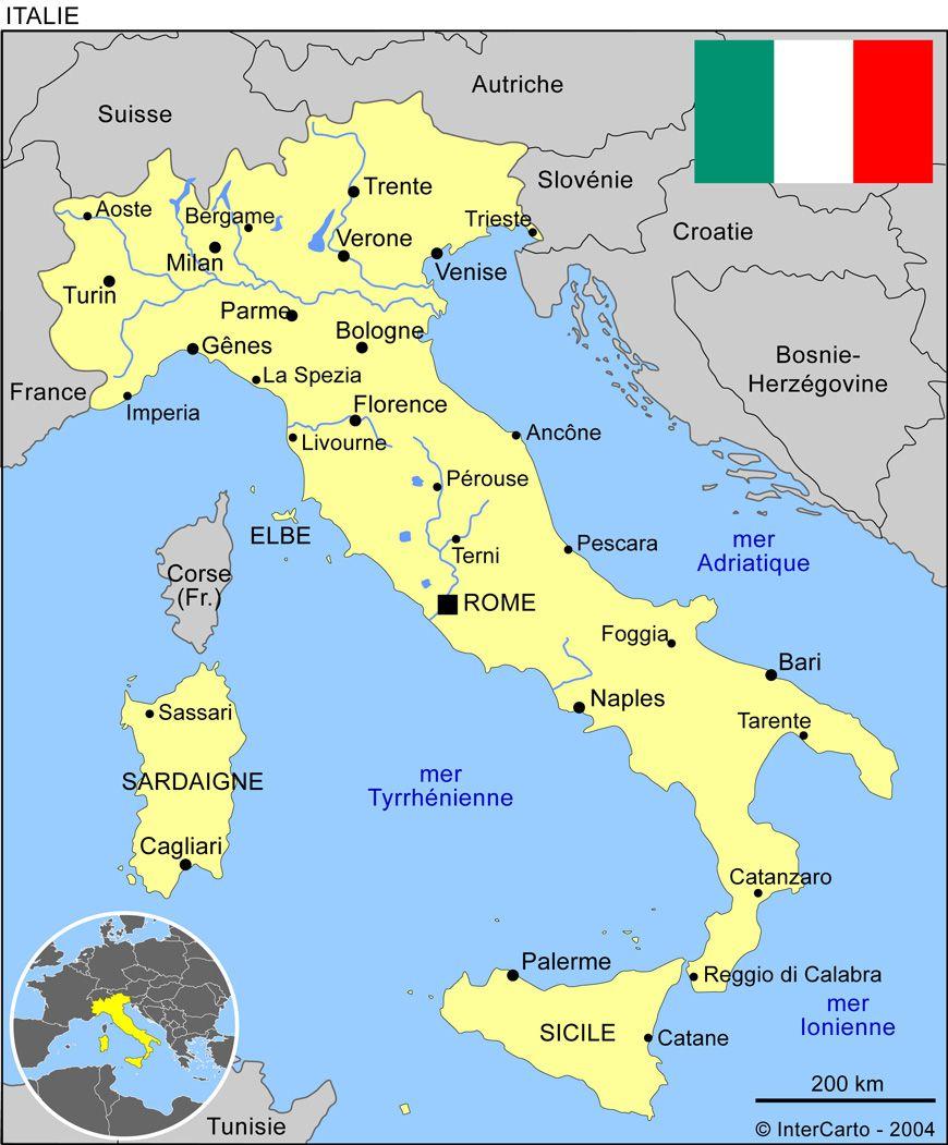 Carte Ville Italie