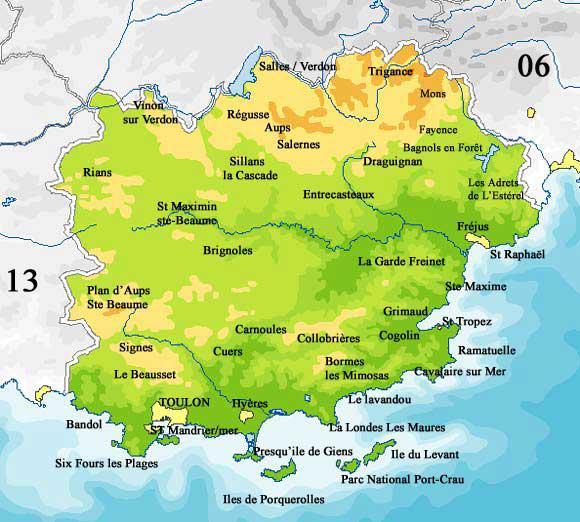 Carte Des Villes Du Var
