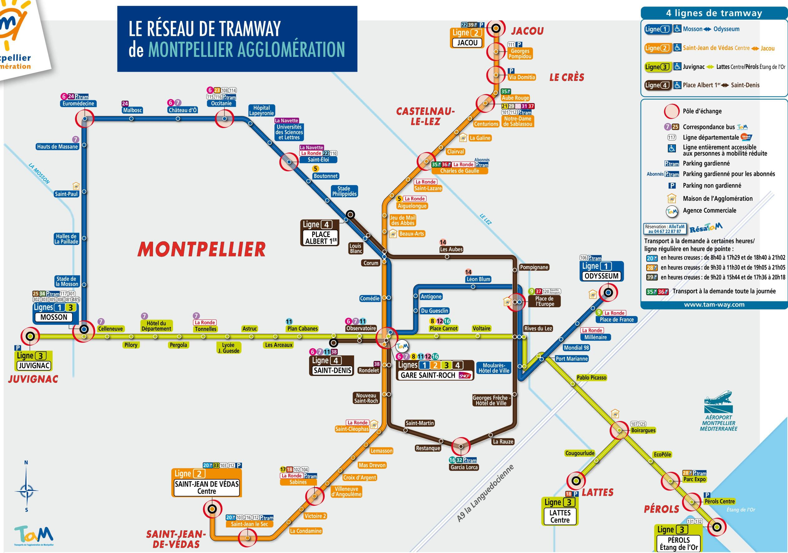 Plan du tramway de Montpellier