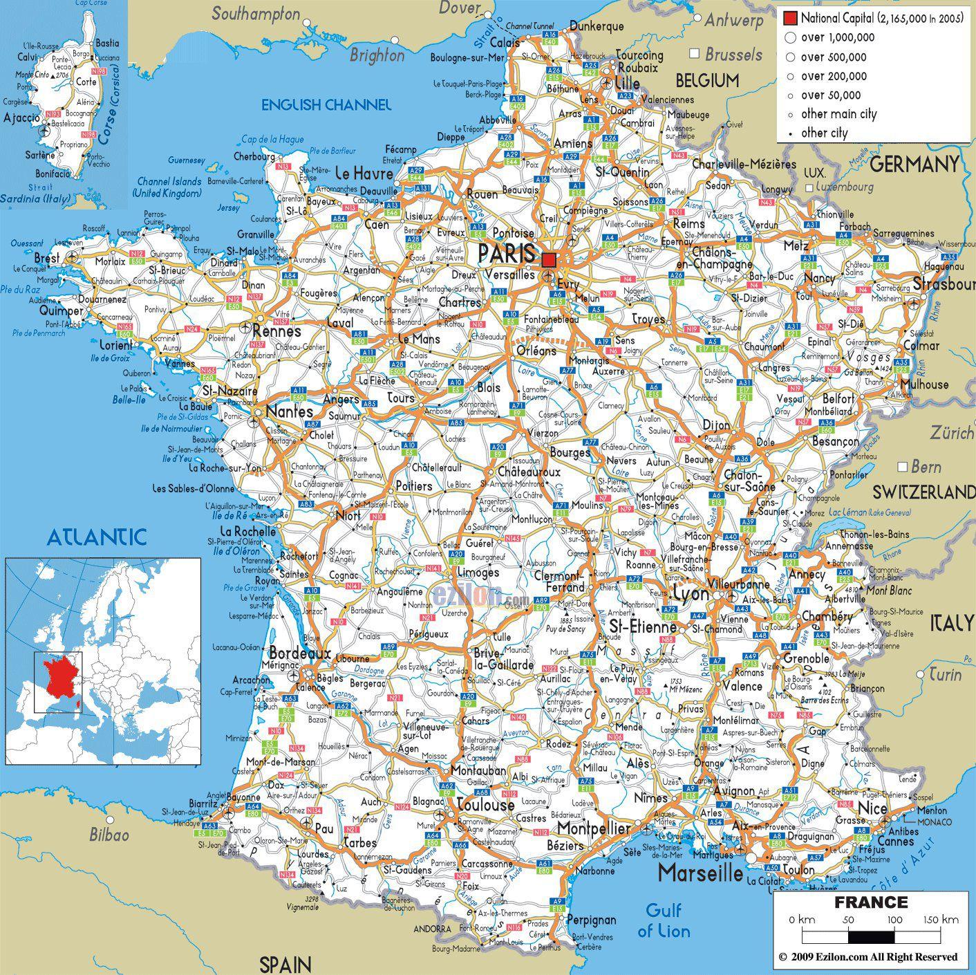 Carte Des Villes Francaises