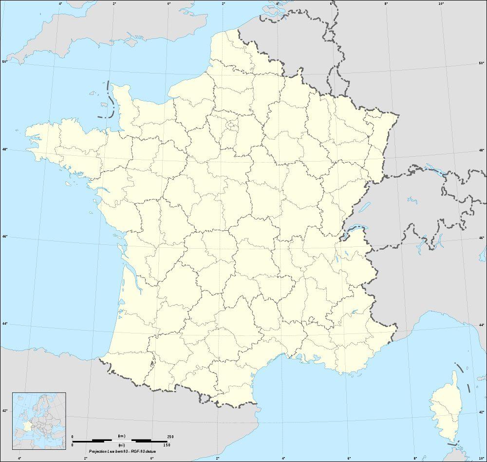 Carte de France vierge
