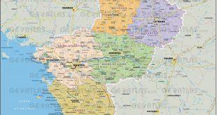 Carte des Pays de la Loire