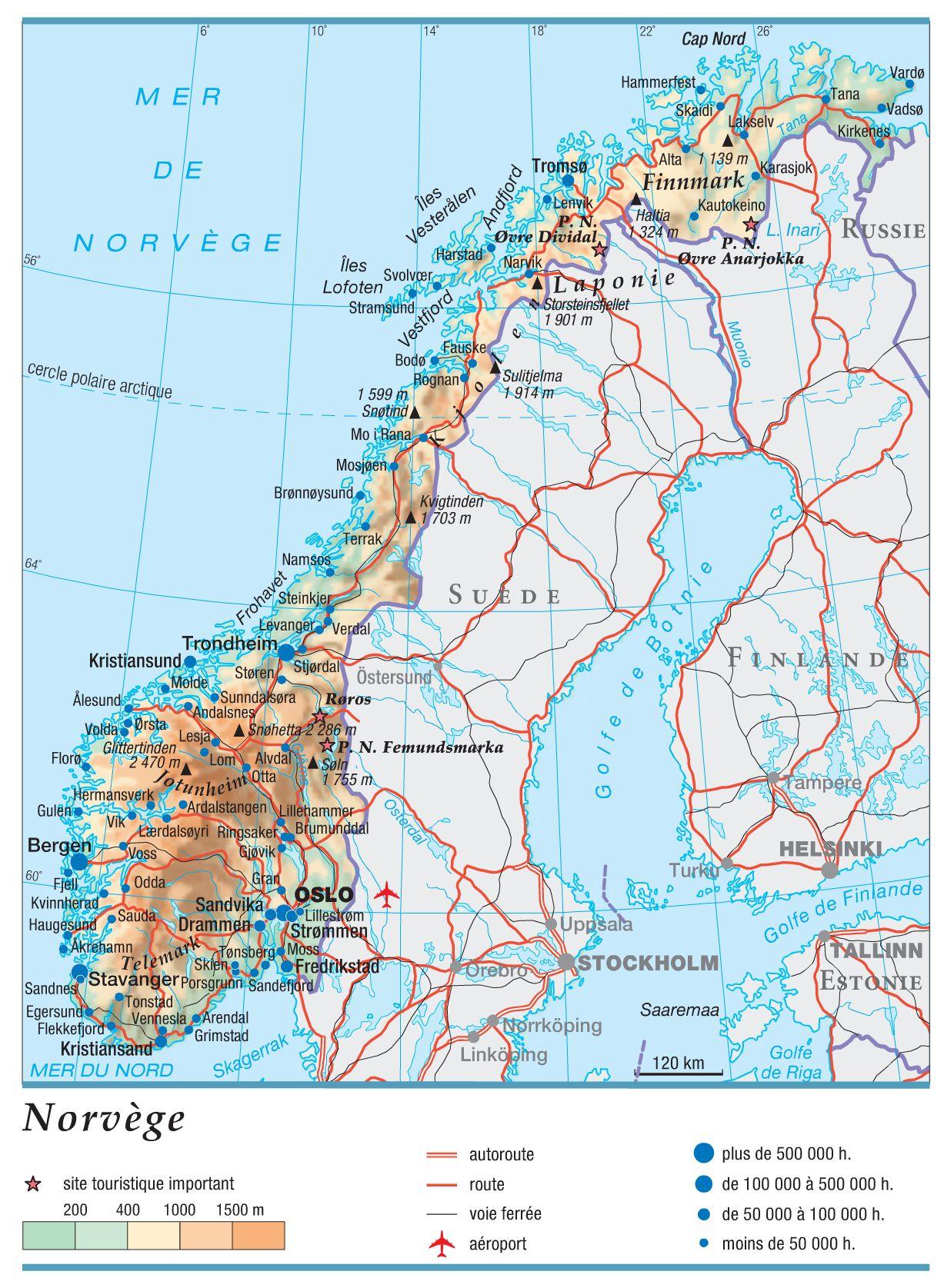 Norvège carte