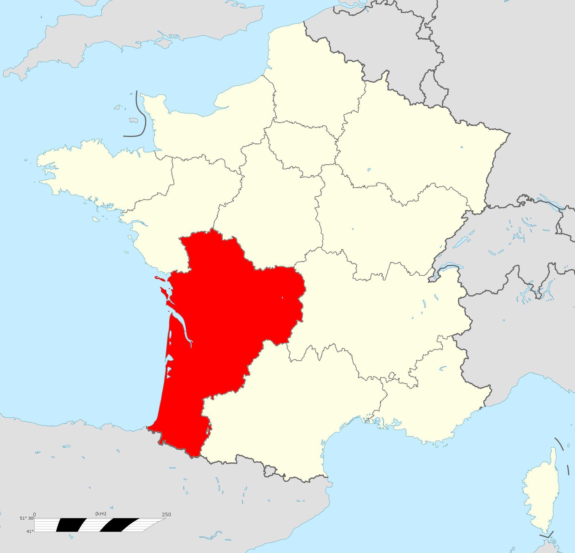 Carte de la Nouvelle-Aquitaine - Nouvelle-Aquitaine cartes des villes, départements...