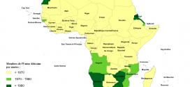 Carte des membres de l'Union Africaine