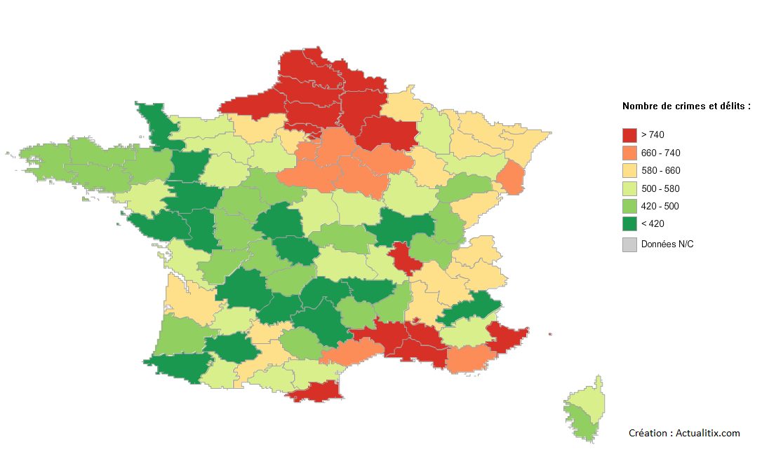 Crimes et délits en France