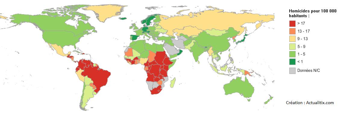 Homicides pour 100 000 habitants