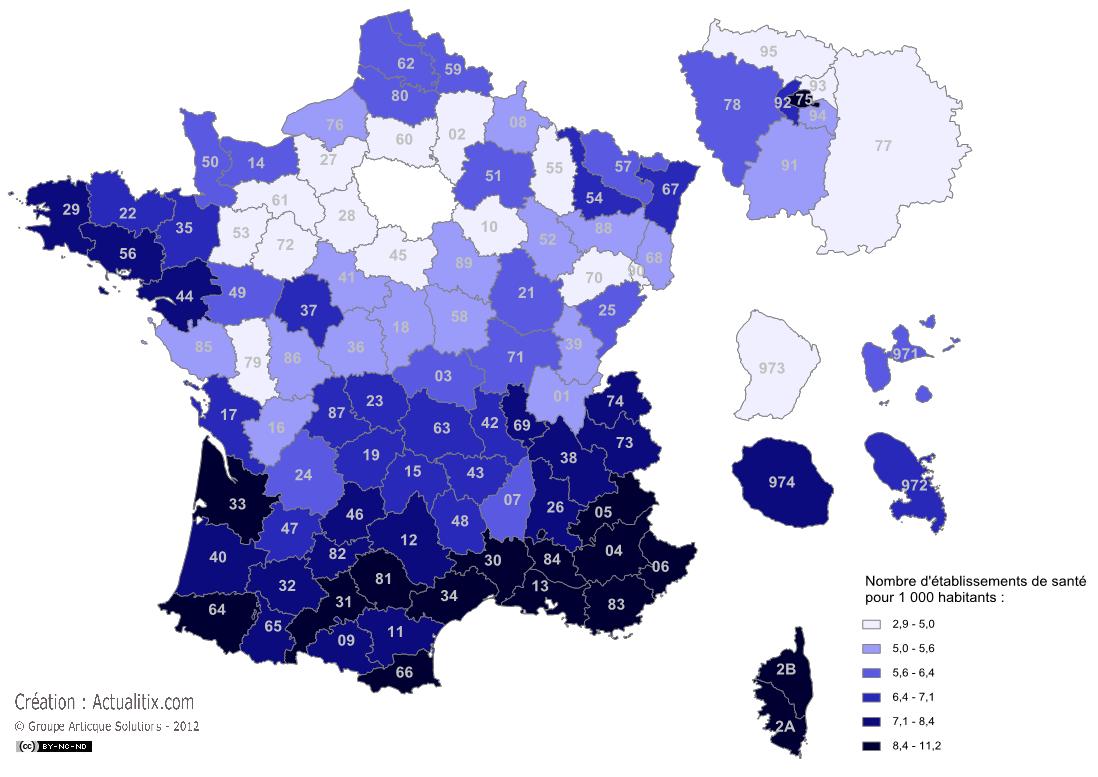 Etablissements de santé en France