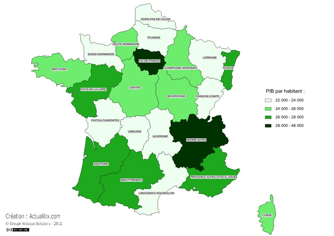 PIB des régions
