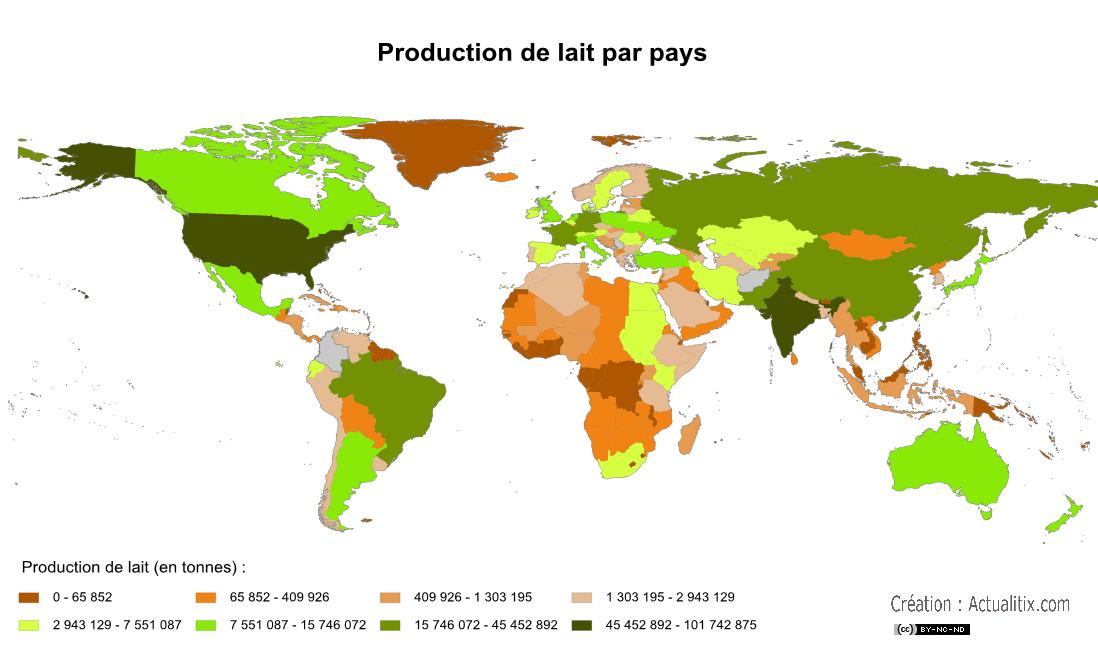 Pays producteurs de lait