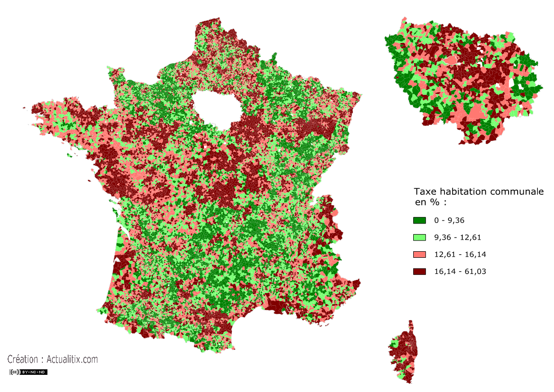 Taxe d'habitation communale en France