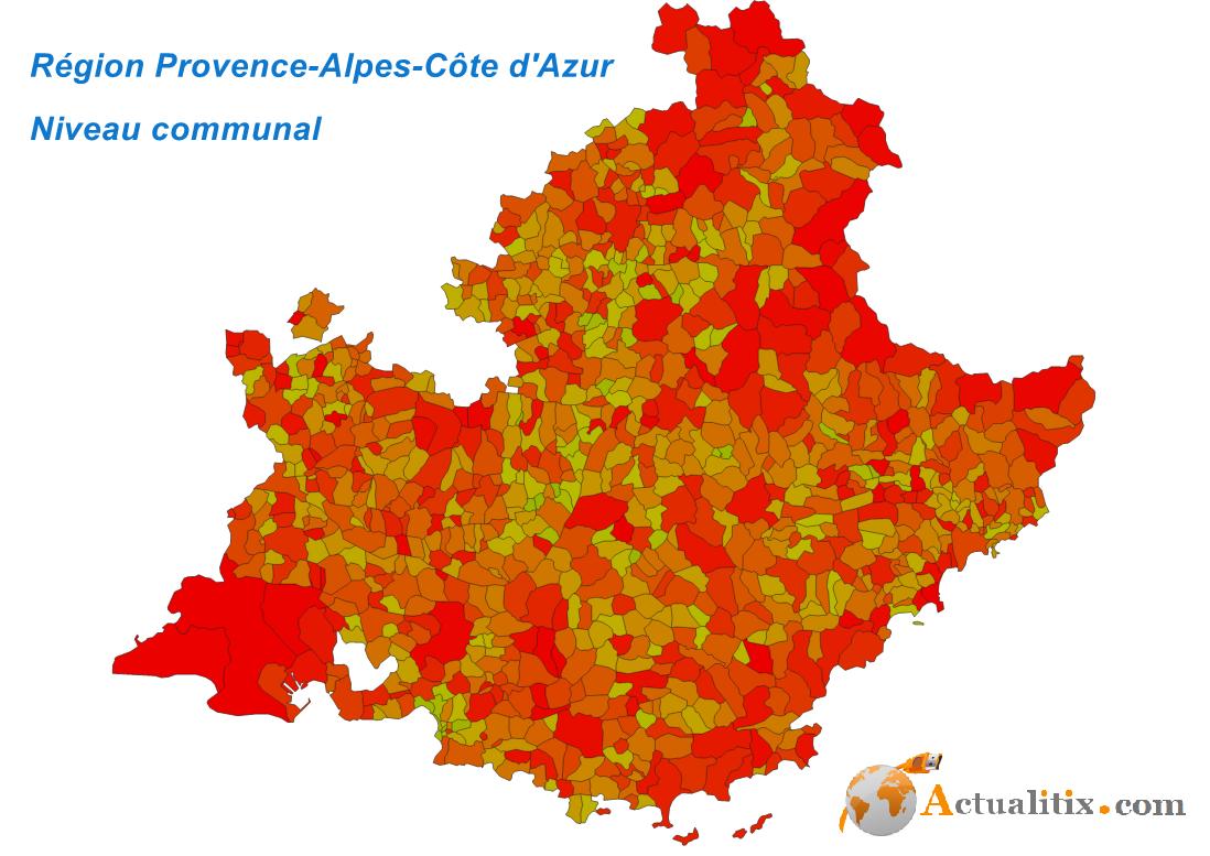 Shapefile Région Provence-Alpes-Côtes d'Azur