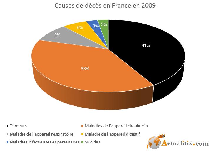 Principales causes de décès en France