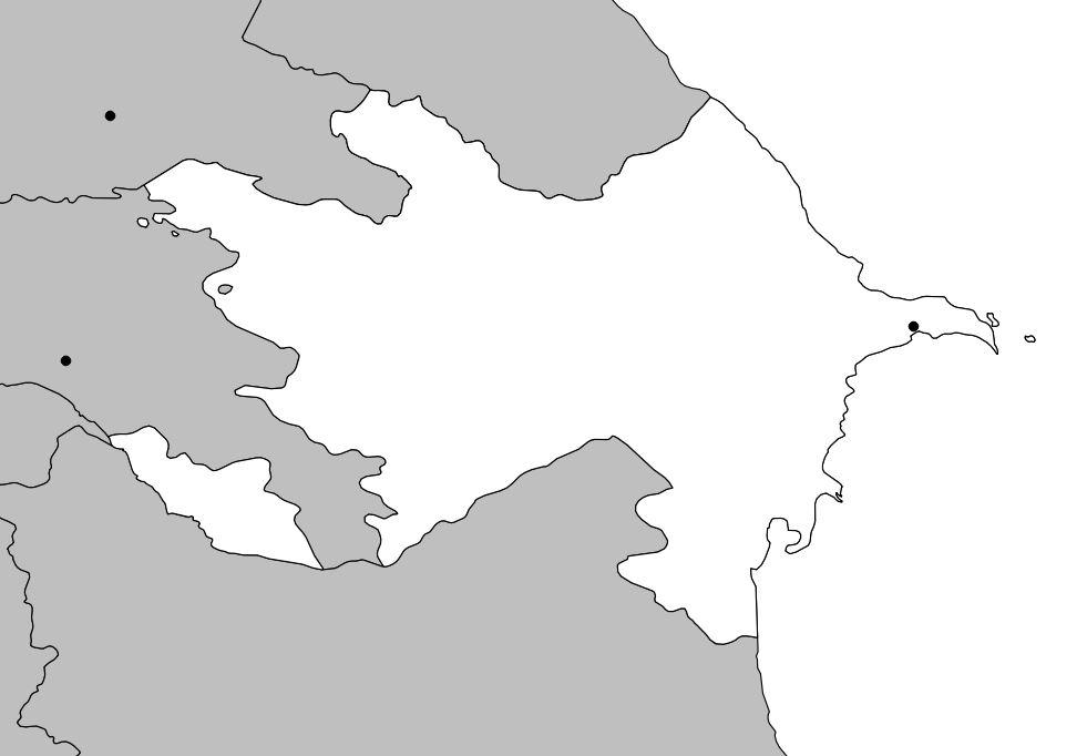 Carte Azerbaïdjan vierge