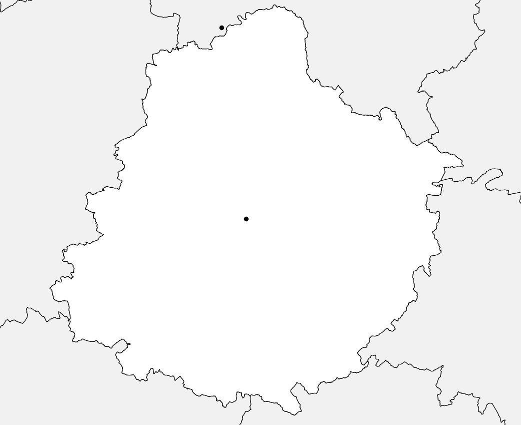 Carte de la Sarthe vierge