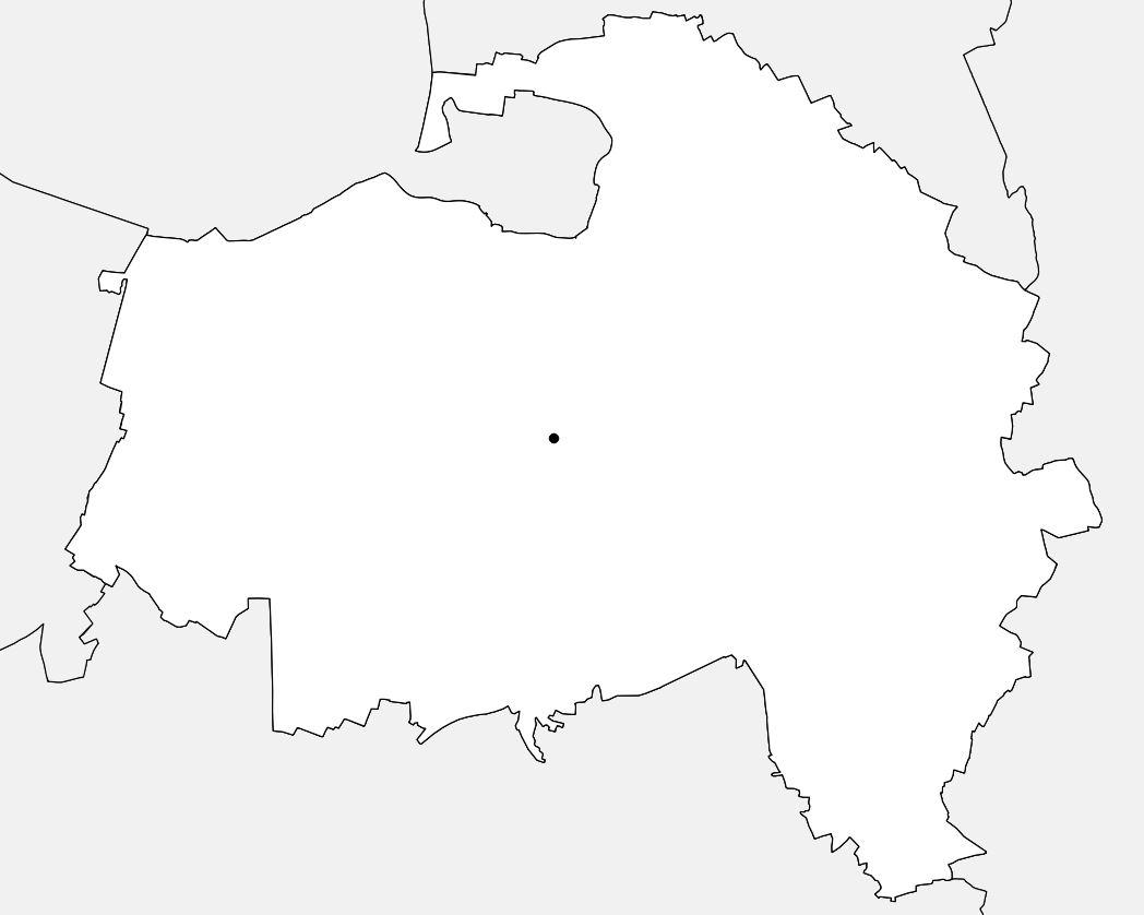 Carte vierge du Val-de-Marne