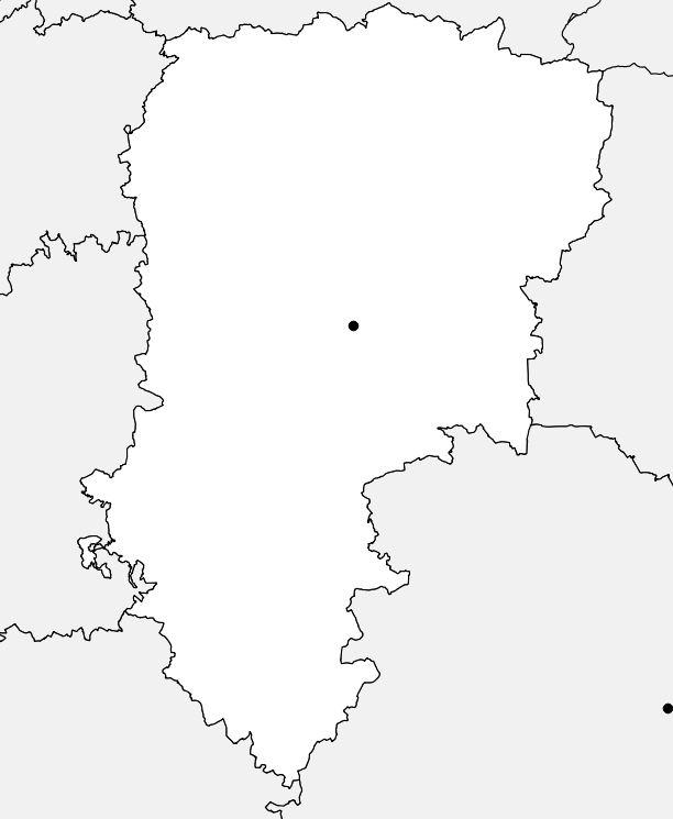Carte vierge de l'Aisne
