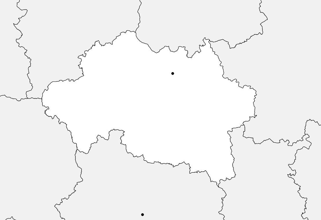 Carte vierge de l'Allier