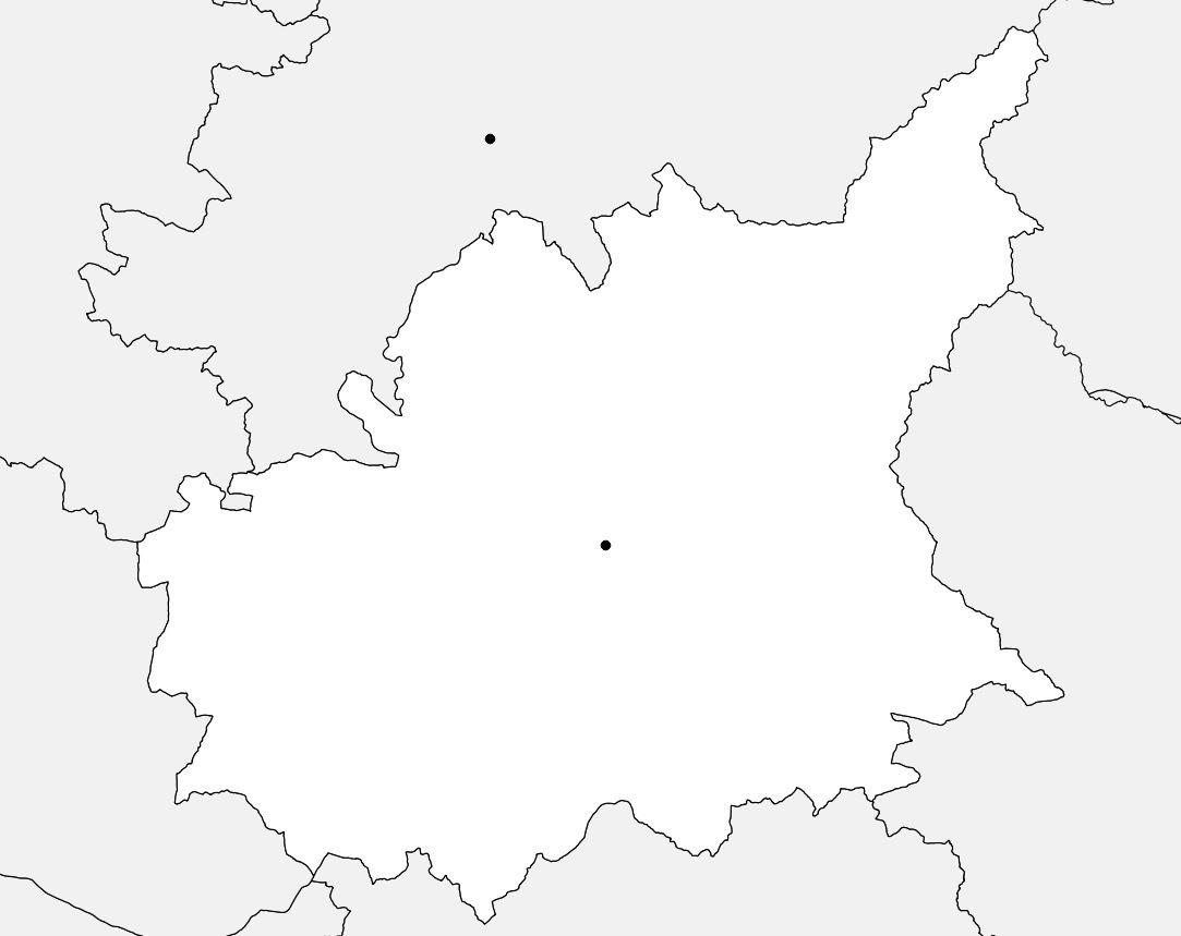 Carte vierge des Alpes-de-Haute-Provence