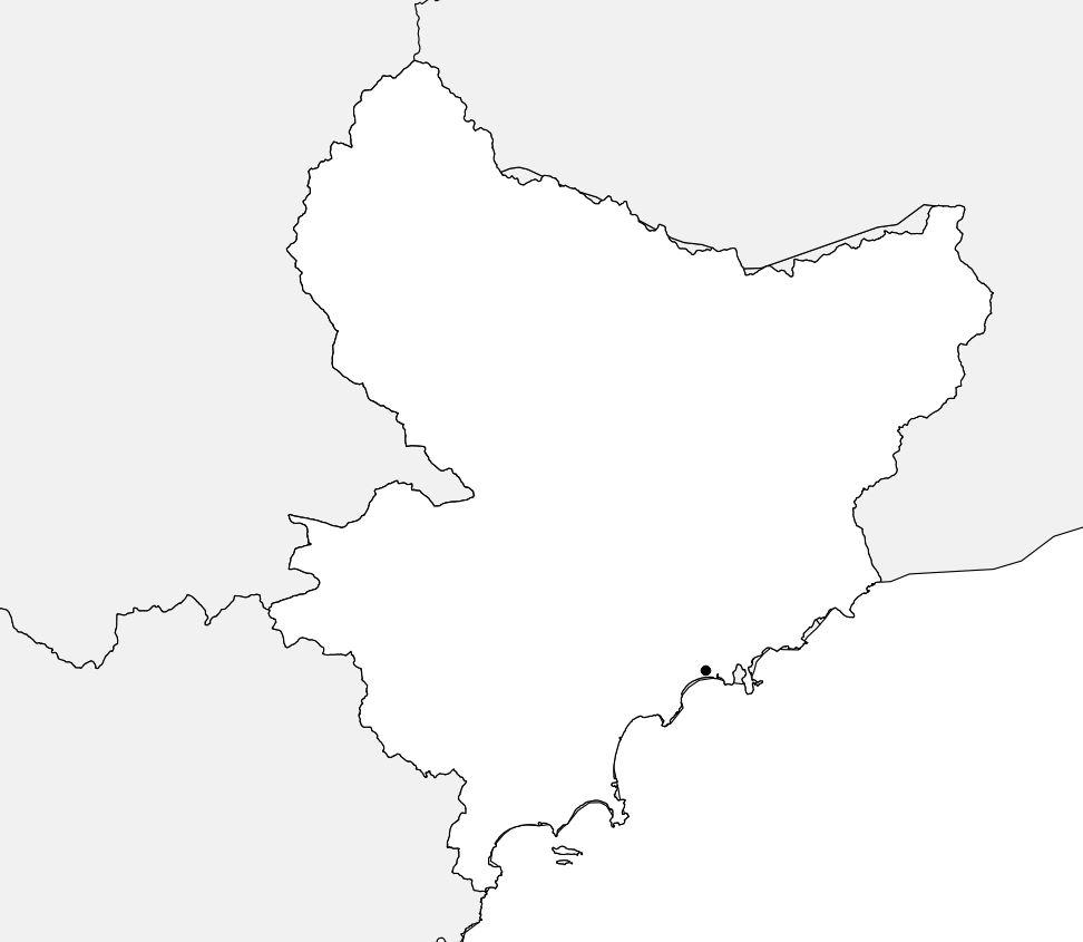 Carte vierge des Alpes-Maritimes