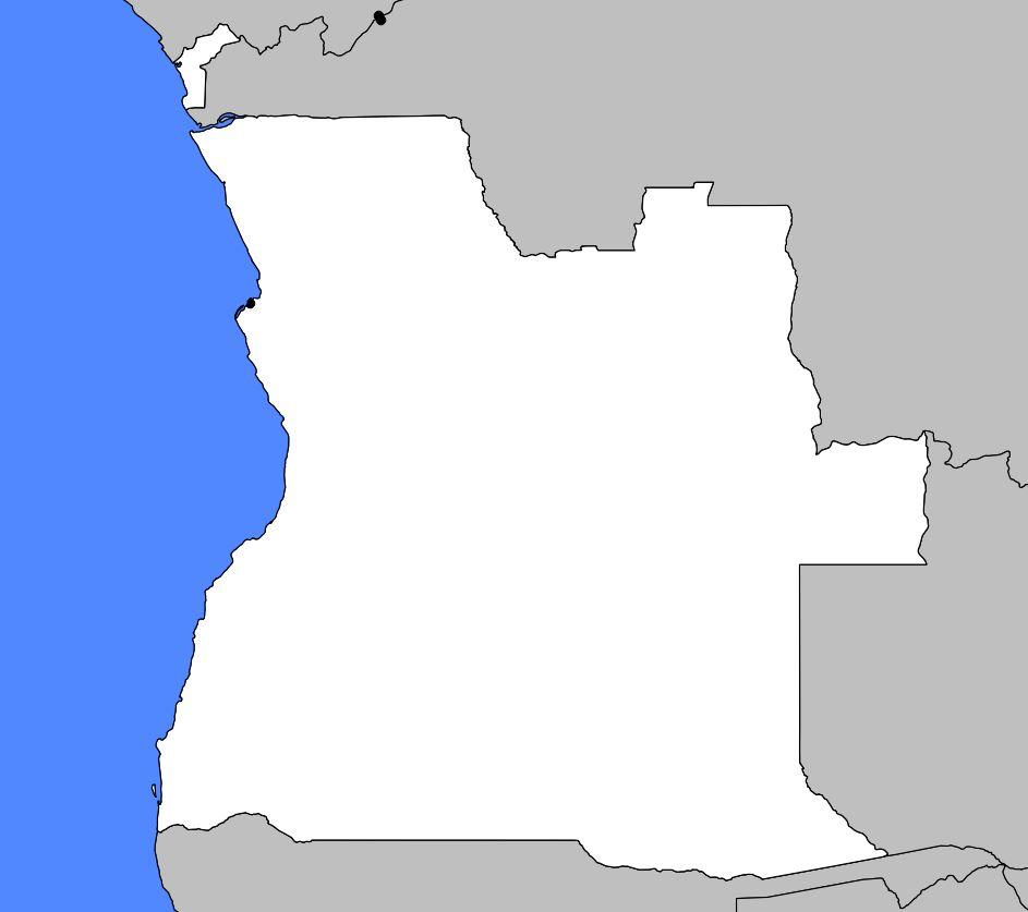 Carte vierge de l'Angola