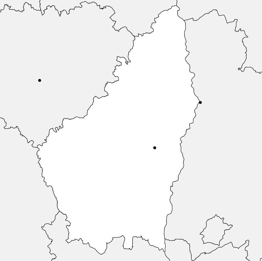 Carte vierge de l'Ardèche