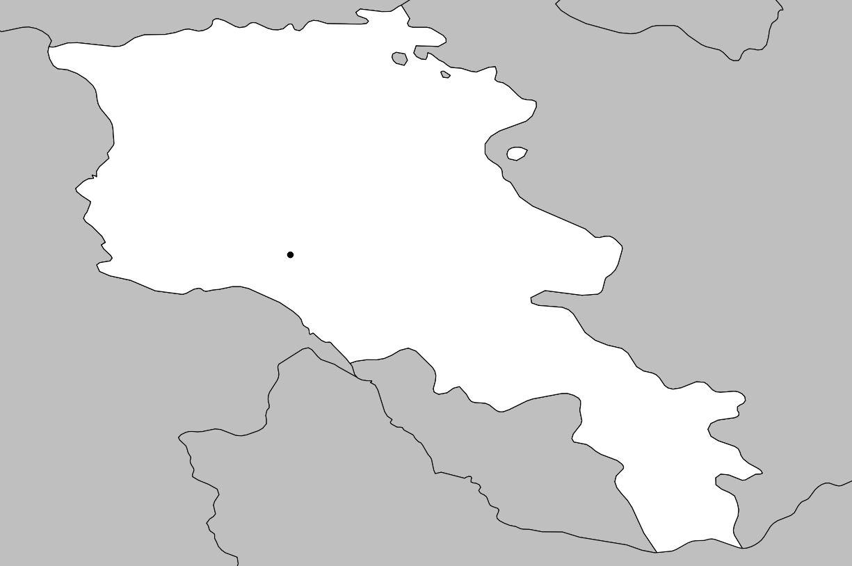 Carte vierge de l'Arménie